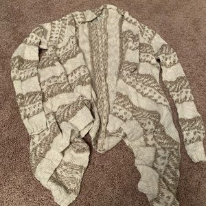 Maurices Tan and Cream Cardigan